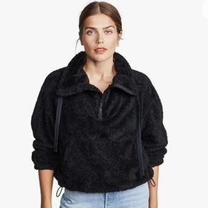 NWT Free people Movement Big Sky Faux fur Pullover